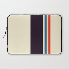 Classic Minimal Racing Car Retro Stripes - Furaribi Laptop Sleeve
