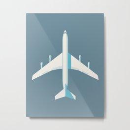707 Passenger Jet Airliner Aircraft - Slate Metal Print