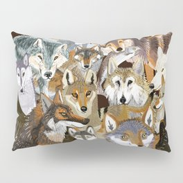 Wolves o´clock ( Time to Wolf ) Pillow Sham