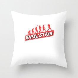 Baseball Evolution Softball Player Fan Gift Throw Pillow