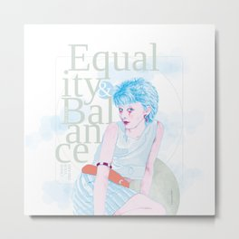 Equality & Balance Metal Print