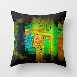 Borough Market  -  London, England Throw Pillow