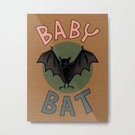Baby Bat Metal Print