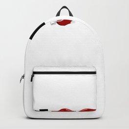 Red Helmets American Football Design Backpack