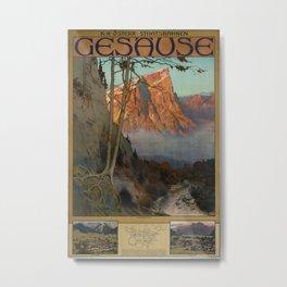 Ges�e Vintage Travel Poster Metal Print