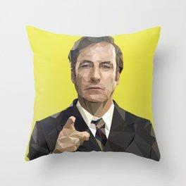 Saul Goodman Poly Art Throw Pillow