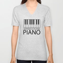 Pianist, music Unisex V-Neck