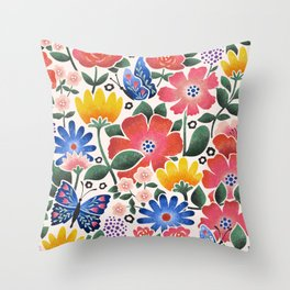 Anniversary Bouquet Throw Pillow
