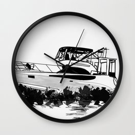 Boat on the Ocean Wall Clock