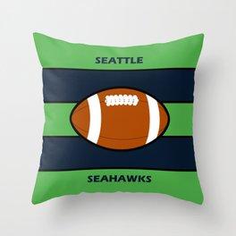 Seahawks Fans, Seattle Football Throw Pillow