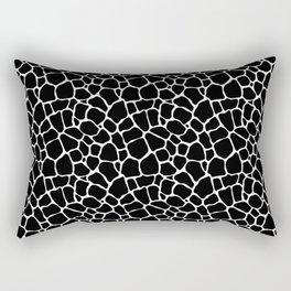 Large Black and White Elephant Animal Skin Hide Print Rectangular Pillow