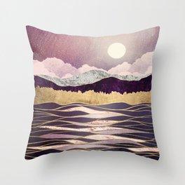 Lunar Waves Throw Pillow