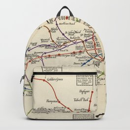 Vintage Map of The London Underground (1923) Backpack