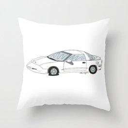 Flat Tire Firebird Throw Pillow