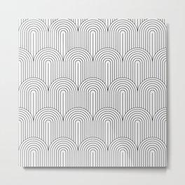 Art Deco Arch Pattern IX Metal Print