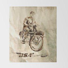 BSA - Vintage Poster Throw Blanket