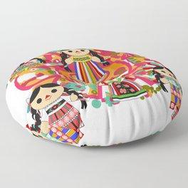 Mexican Dolls Floor Pillow