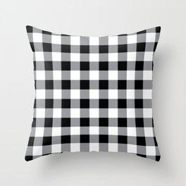 Farmhouse Style Black Buffalo Check Pattern Throw Pillow