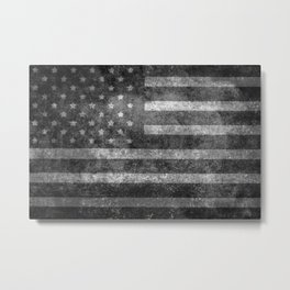 US flag, Old Glory in black & white Metal Print