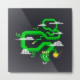 Pixel Celestial Dragon Metal Print