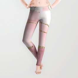 Blush Marble Art Landscape Leggings