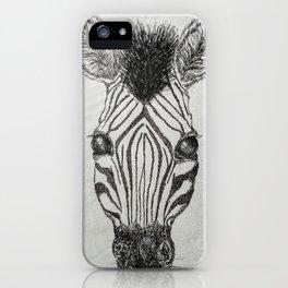 Zebra Stares iPhone Case