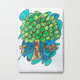 T is for Tree Metal Print