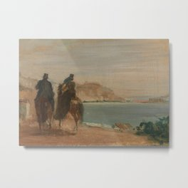 Promenade beside the Sea Metal Print