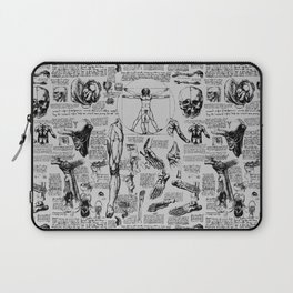 Da Vinci's Anatomy Sketchbook // Silver Laptop Sleeve