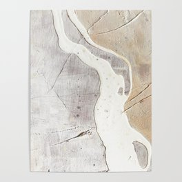 Feels: a neutral, textured, abstract piece in whites by Alyssa Hamilton Art Poster