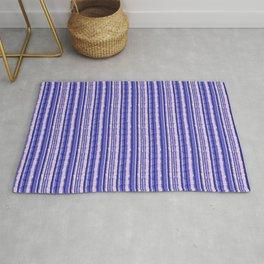 Crinkled Blue Stripes Rug