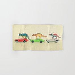 Dinosaurs Ride Cars Hand & Bath Towel