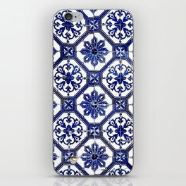 Blue and White Portuguese Tile - iPhone Skin