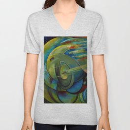 Teimuraz Kharabadze - The world and the galaxy Unisex V-Neck