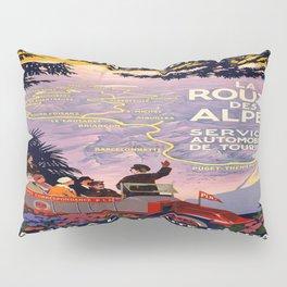 Vintage poster - Route des Alpes, France Pillow Sham