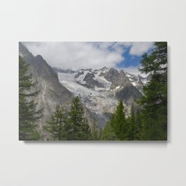 Fir tree Forest Snowy Mountains Alpine Landscape Metal Print