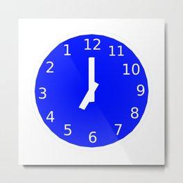 Backward Clock Metal Print