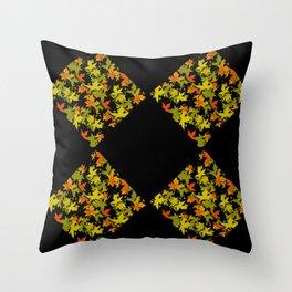 Fall Color Diamond 4 Throw Pillow
