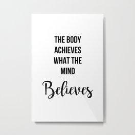 Workout Motivation Quote Metal Print