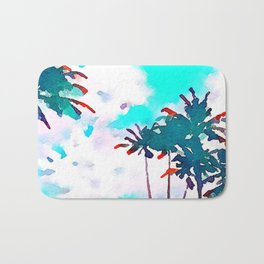 Lanikai Coconut Trees Bath Mat