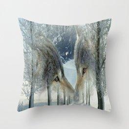 WOLFS Throw Pillow