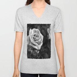 Pink Roses in Anzures 1 B&W Unisex V-Neck