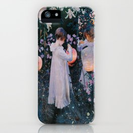 John Singer Sargent's Carnation, Lily, Lily, Rose iPhone Case