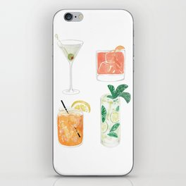 Colorful cocktails iPhone Skin
