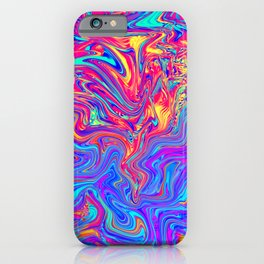 Abstract Waves iPhone Case