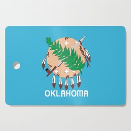 Oklahoma State Flag Cutting Board