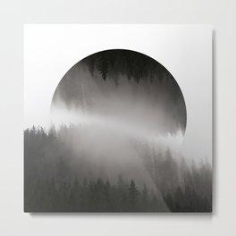 Mountains in hiding Metal Print