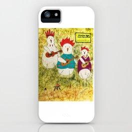 Ukulele Chickens iPhone Case