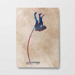 pole vault sport art #polevault #sport Metal Print