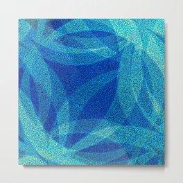 Blue Abstract Metal Print